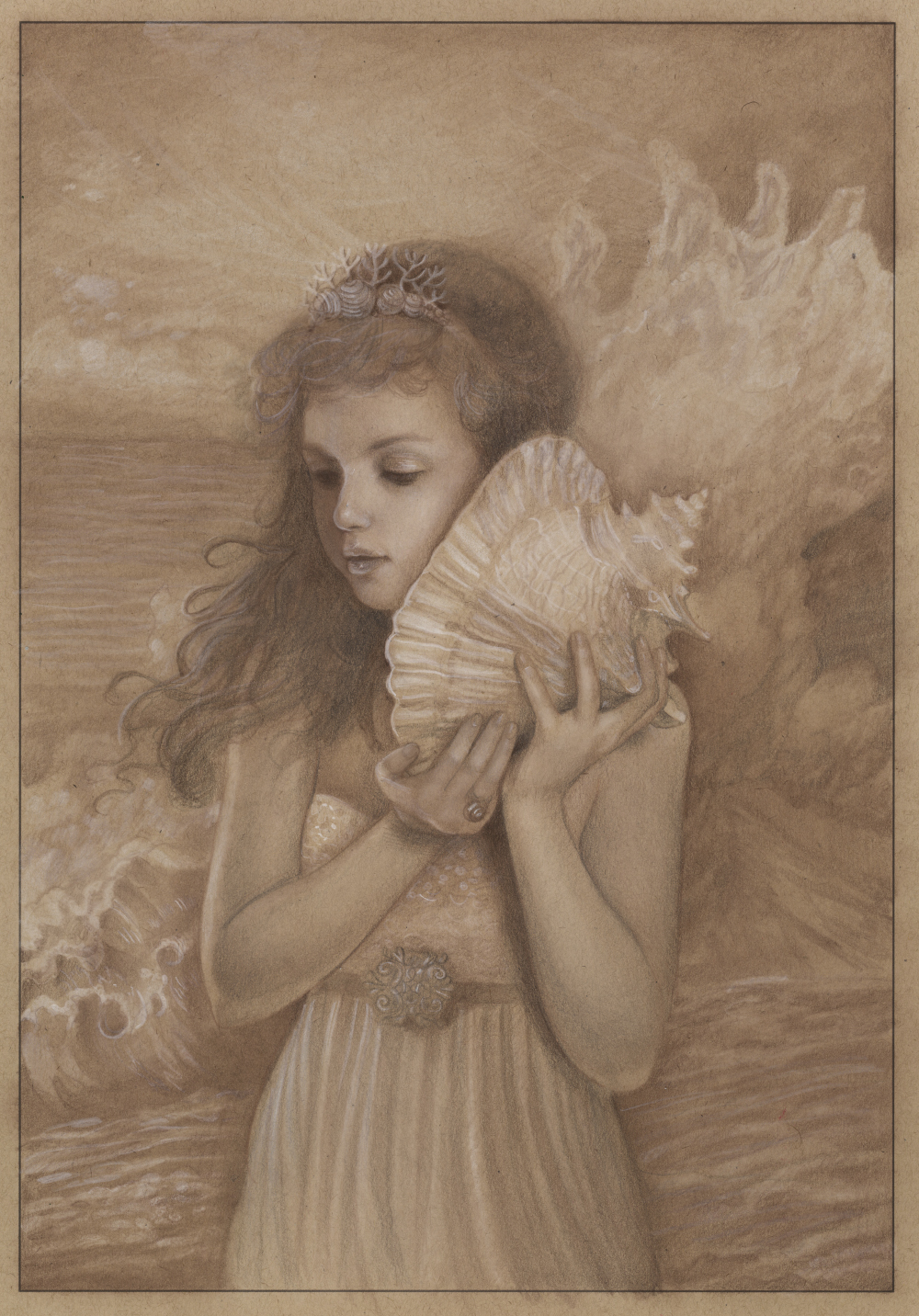 Pencil on toned Canson paper