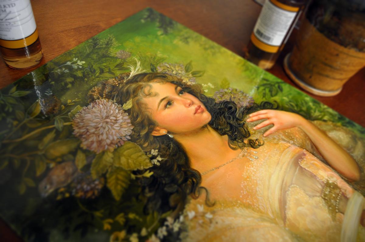 """""""Ianthe""""  12x16  oil on panel  September 2014"""