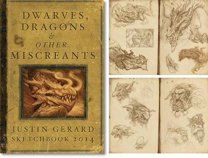 Justin Gerard's 2014 sketchbook