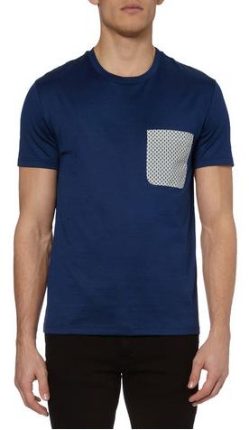 Alexander McQueen Skull-Print Front-Pocket T-Shirt