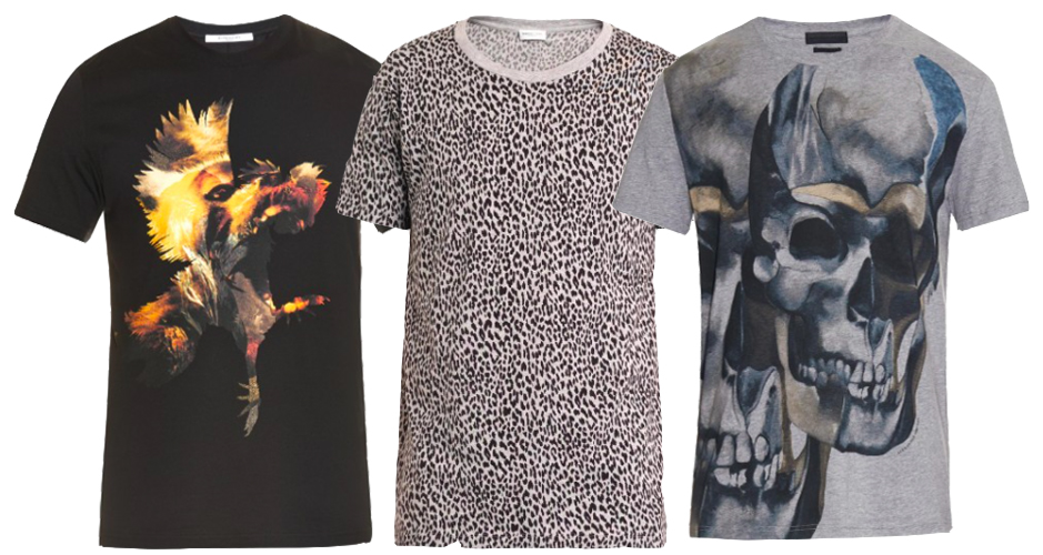 Men's Graphic Tee's Givenchy Saint Laurent Alexander McQueen