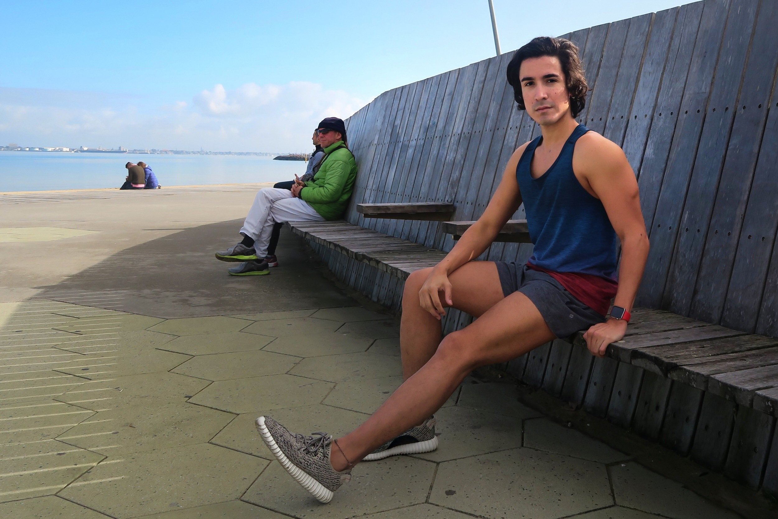 stylish tank tops for the gym men st kilda beach