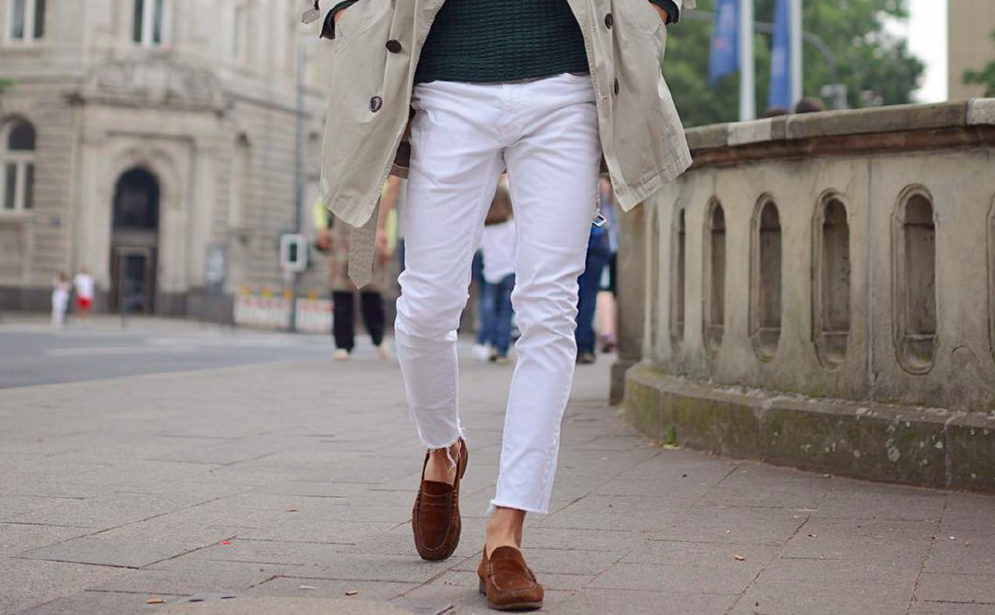 how to wear white jeans men menswear