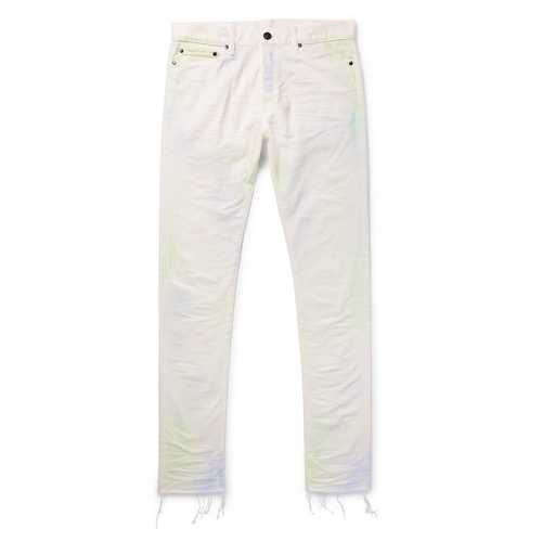 John Elliot White Denim Jeans Menswear