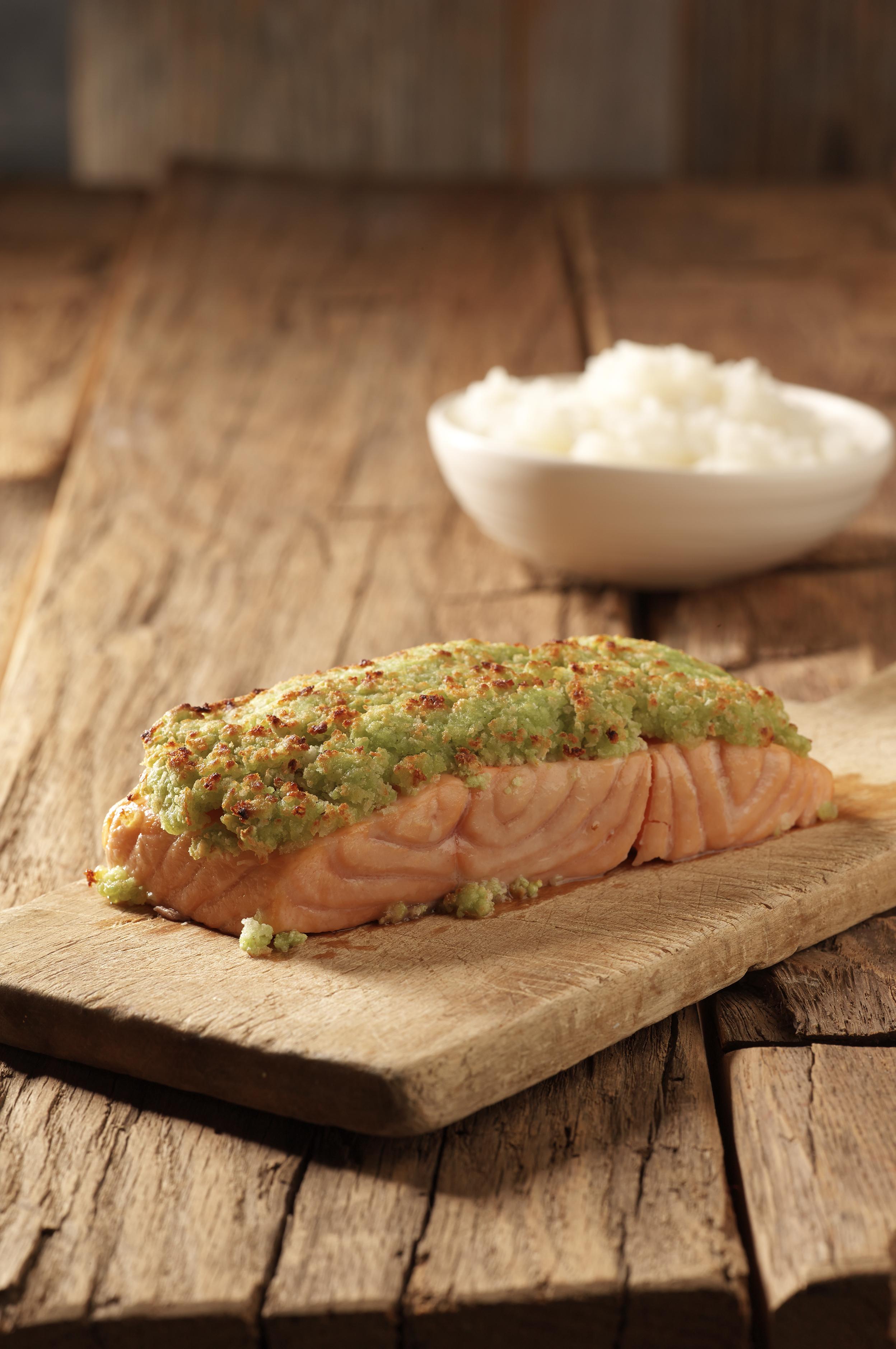 Wasabi Crusted Salmon