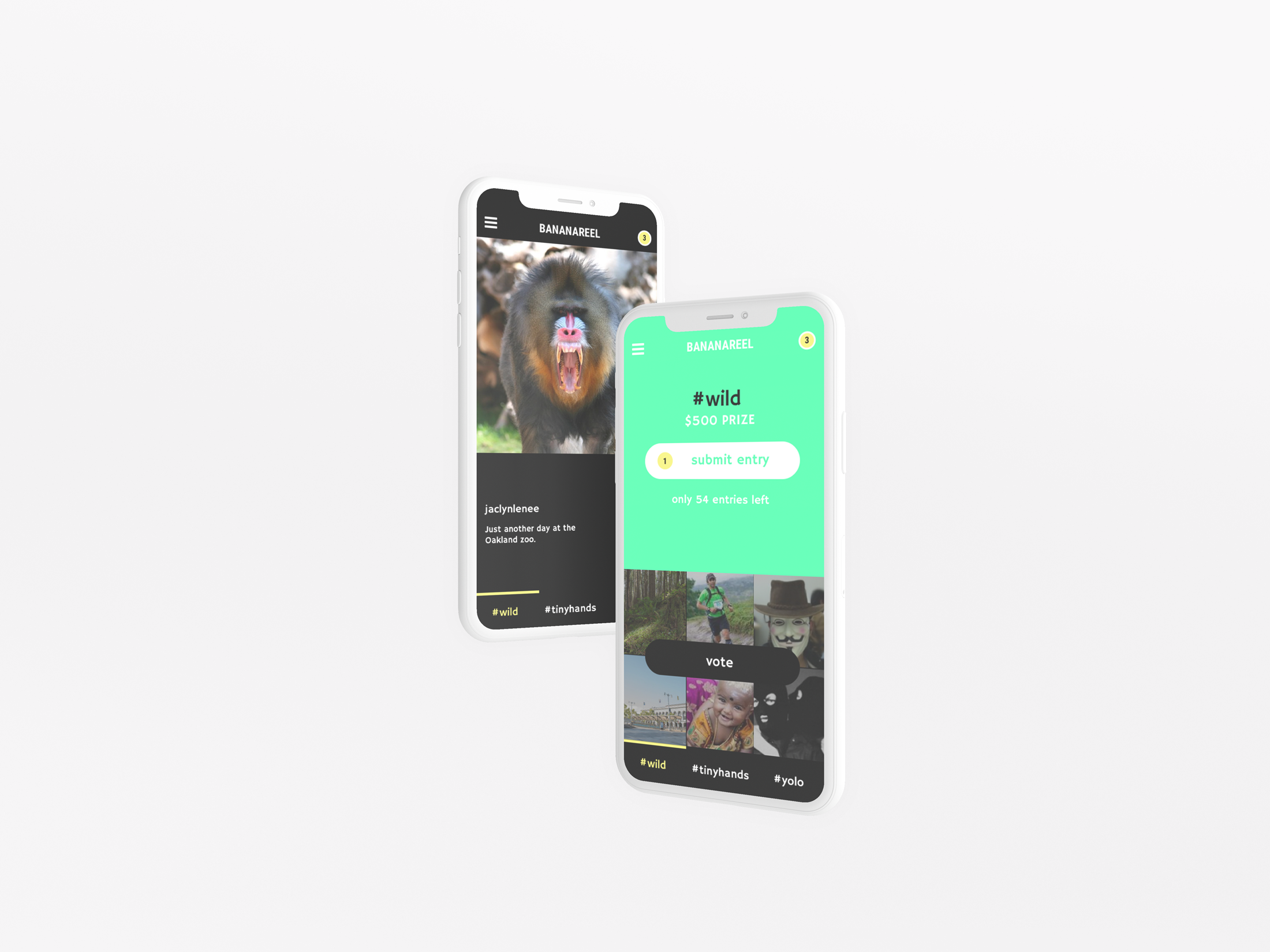 Bananareel - MOBILE APP DESIGN