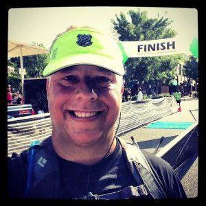 Chris Abraham after a 5K race