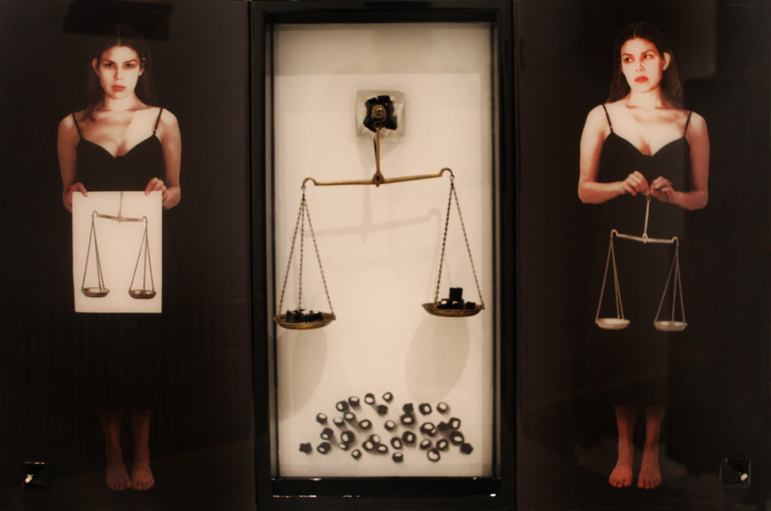 "The Measurement of Joy, 2012, Mixed Media with embedded objects, 24"" X 36"""