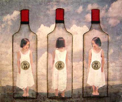 "All the Bees, 2003, 60"" X 72"", Mixed Media/Encaustic (Sarah) (sold)"