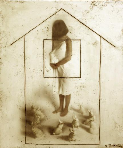 """Bun in the Oven, 2010, 36""""x30"""",   Mixed Media/Encaustics   (Simone)"""