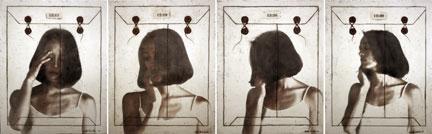 "Time I, II, III, IV, 2010, 40""x30"",   Mixed Media/Encaustics   (Simone) (sold)"
