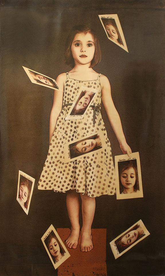 "Projection, 2011, 79""x50"", Mixed Media/Canvas (Samantha)"