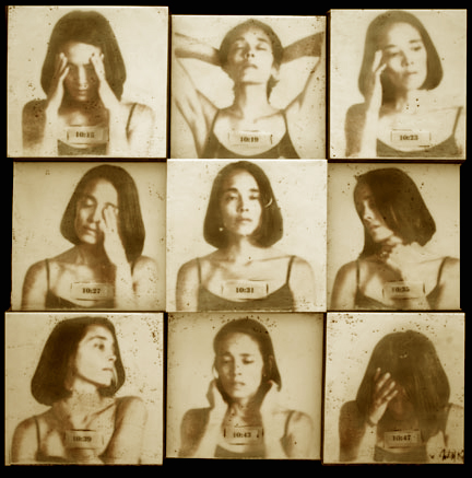 "Passing Time  , 2010, 36""x36"", Mixed Media/Encaustics   (Simone) (sold)"