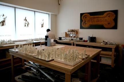 Encaustic and painting studio