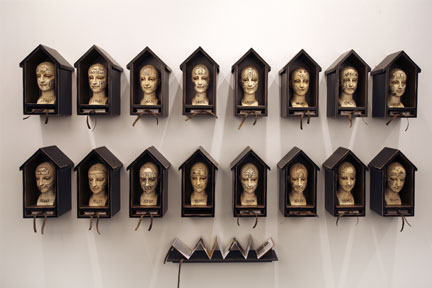 Many Homes, Many Lives / Excerpts from an Artist's Life, 2011, Mixed Media Installation (sold)
