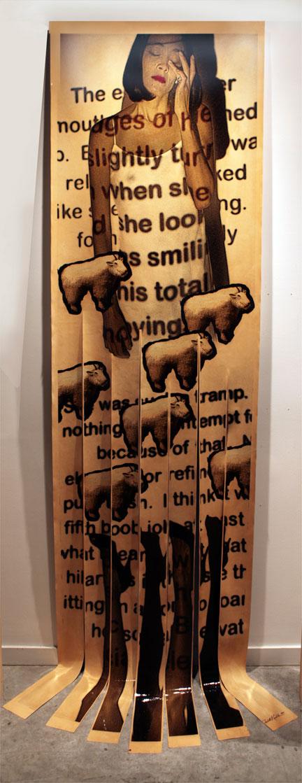 """Insomnia, 2011, Mixed Media on Canvas, 130"""" X 36"""""""