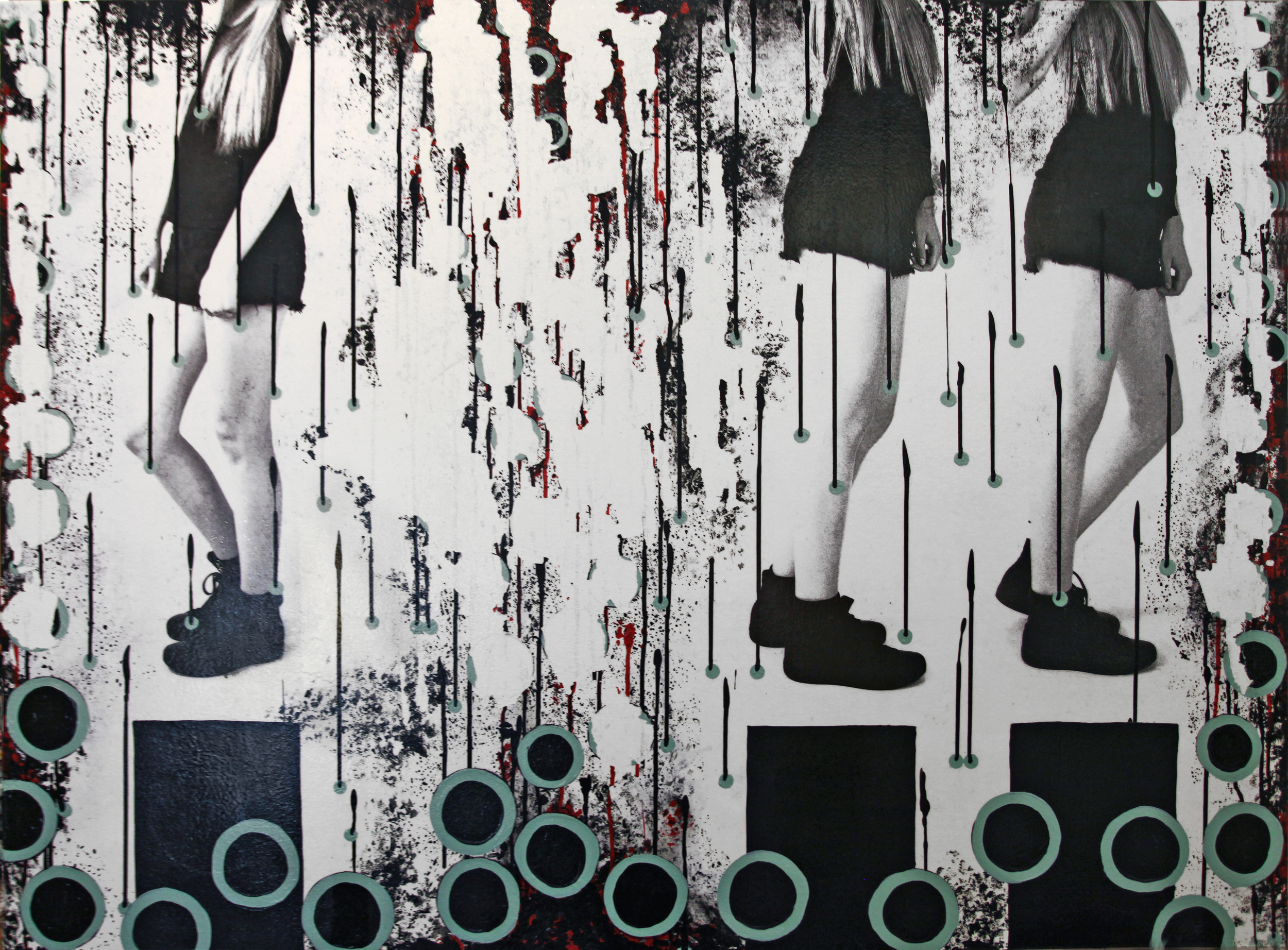"""Coming Together, 2016, Mixed Media on Panel, 48"""" x 36"""""""