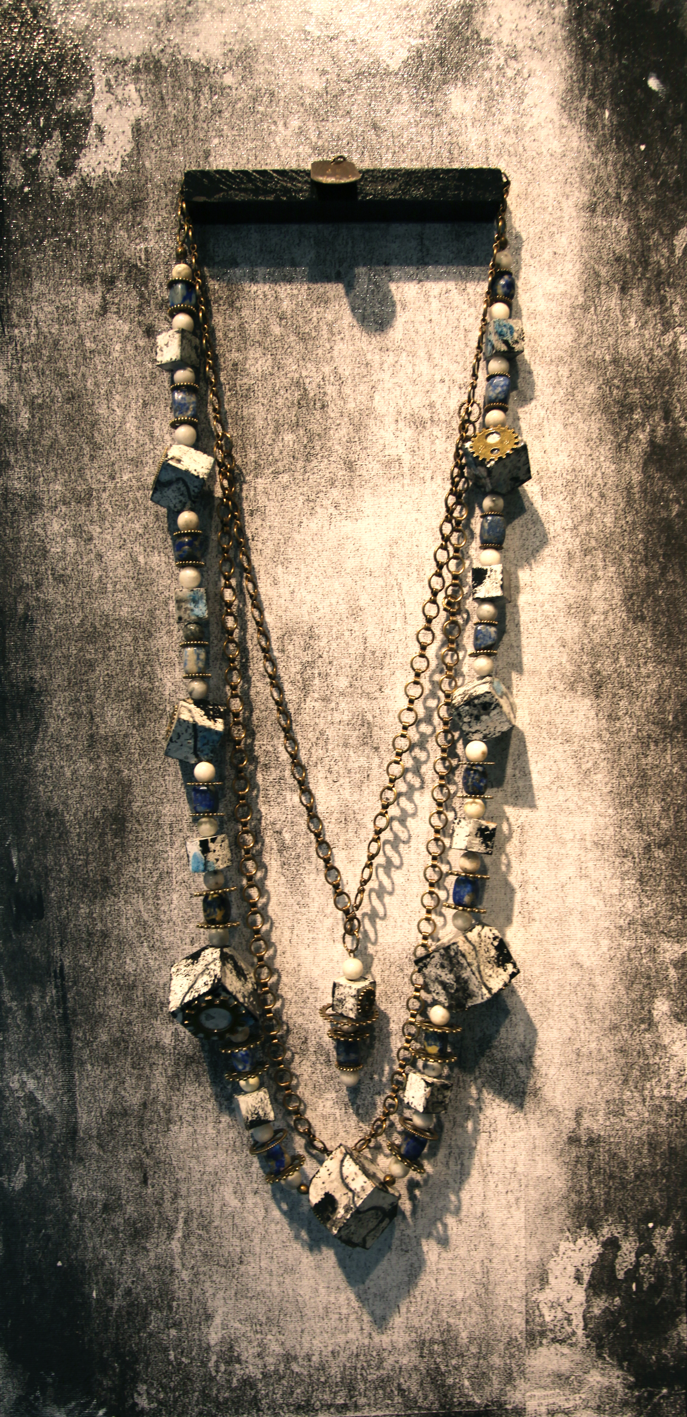 JK 002 Necklace with panel, 2016 Mixed Media