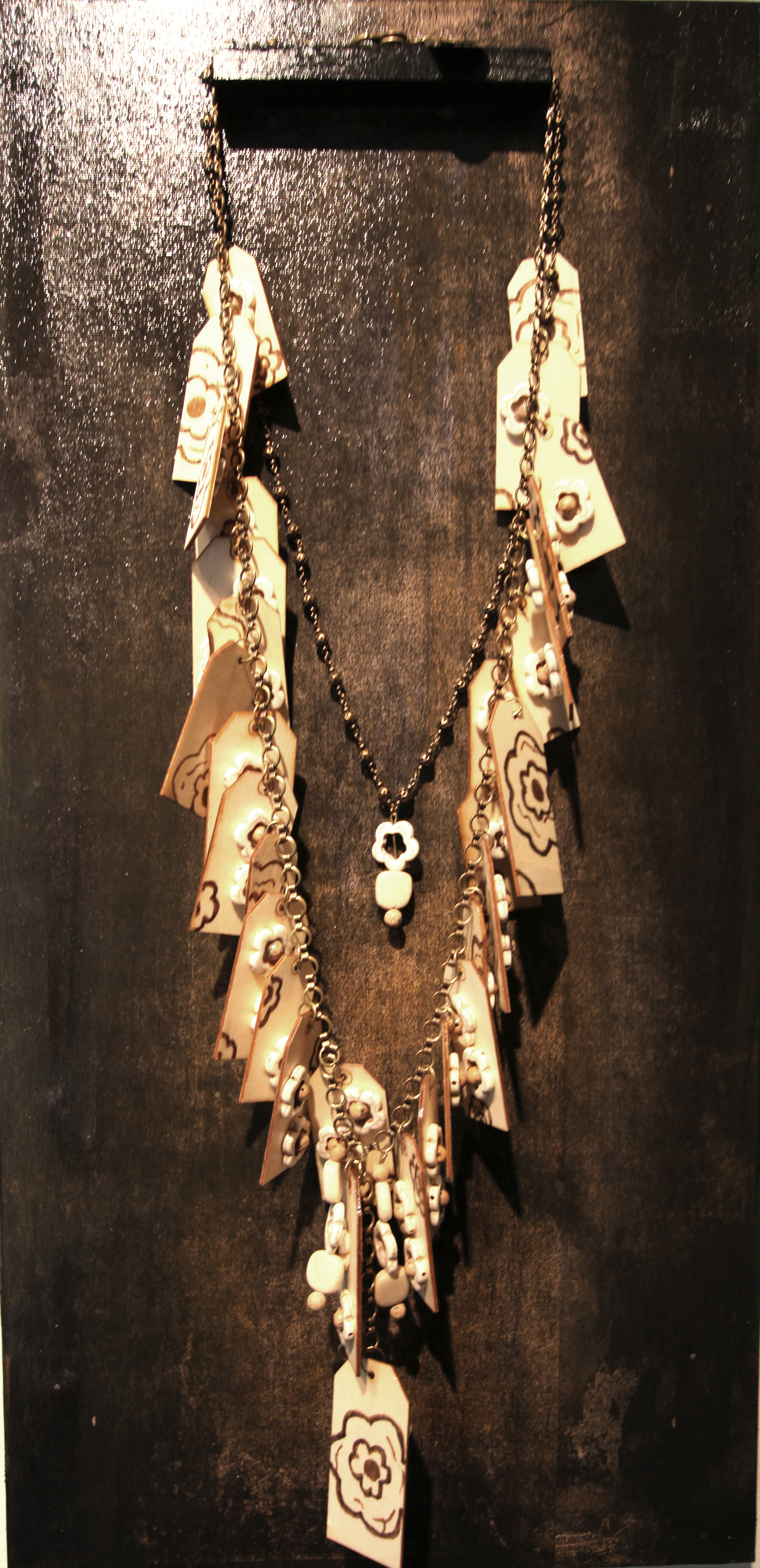 JK 004 Necklace with panel, 2016 Mixed Media
