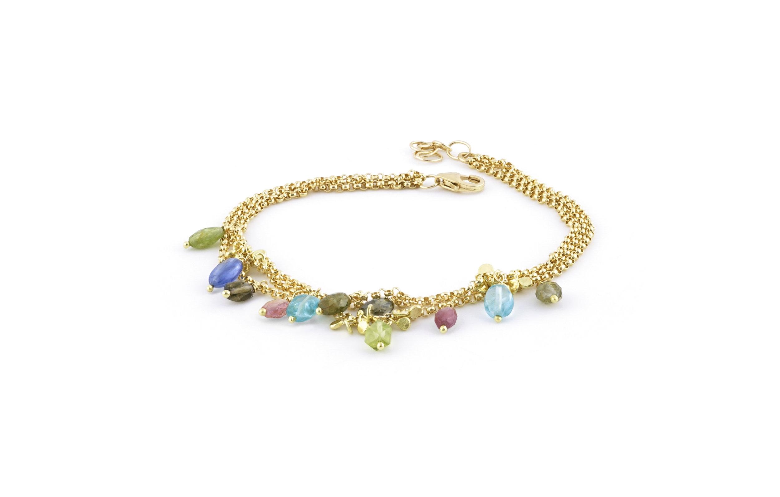 Multi chain and stones gold brace.jpg