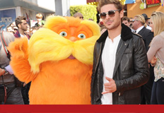 Zac and noted film critic Gene Shalit attend The Lorax premiere.