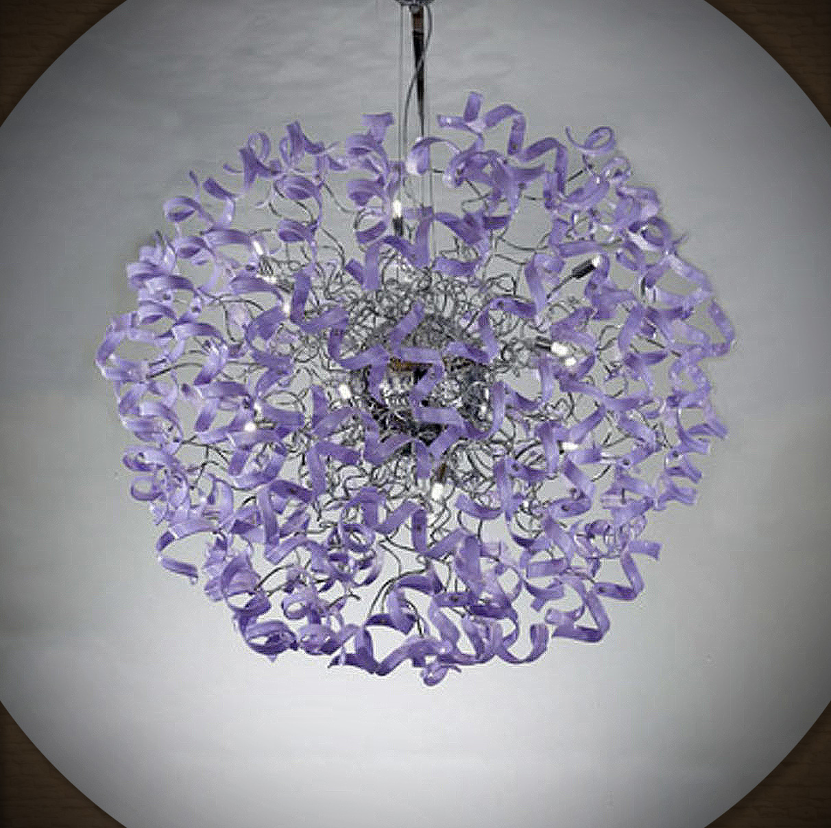 this chandelier belongs 2 chaka kahn. she is my friend.
