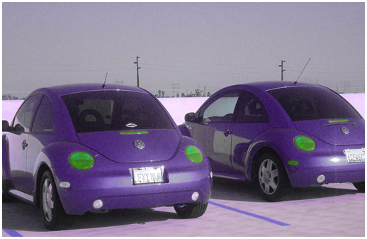 this is a purple car. don't drive too fast i get scared.