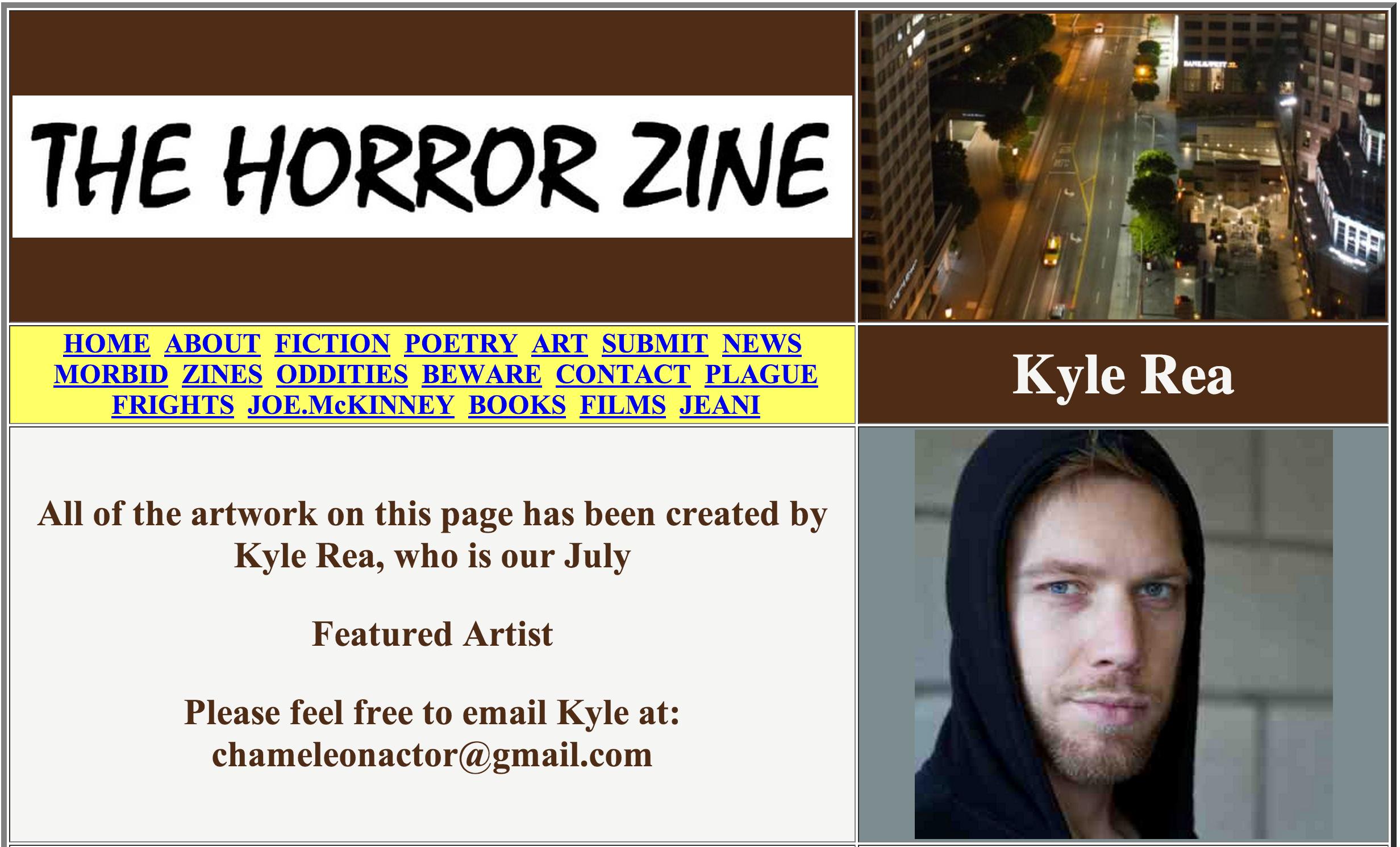 Kyle Rea Photography - The Horrorzine Publication
