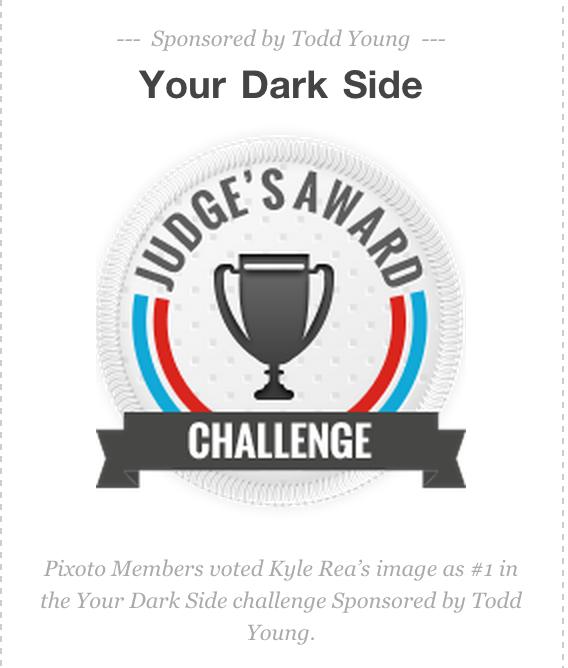"Judge's Choice Award - ""Your Dark Side"", Pixoto - Kyle Rea Photography - cREAtive Castle Studios"