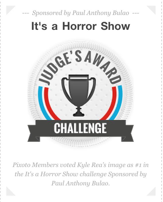 "Judge's Choice Award - ""It's a Horror Show"", Pixoto - Kyle Rea Photography - cREAtive Castle Studios"