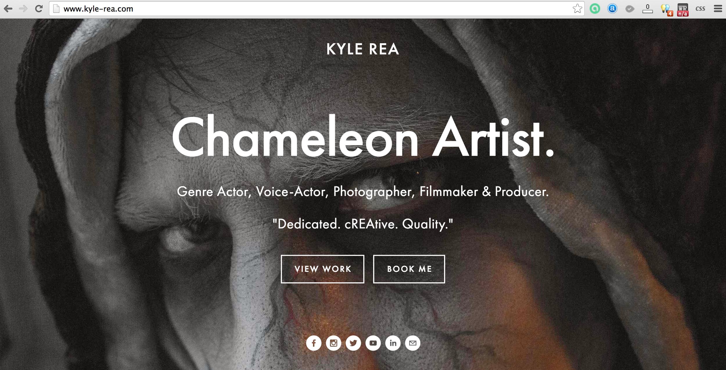 Kyle Rea Actor - cREAtive Castle Studios - Clockwork Mind Pictures