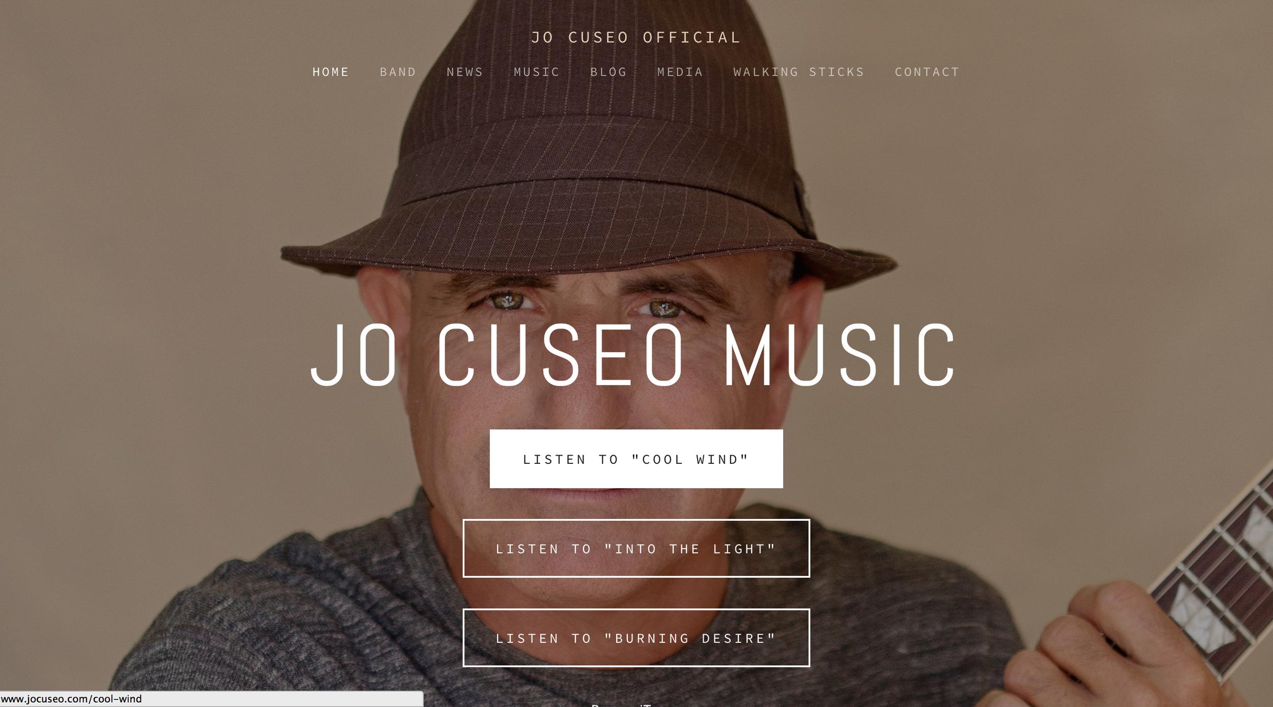 Jo Cuseo Musician / Artist -Website by  cREAtive Castle Studios