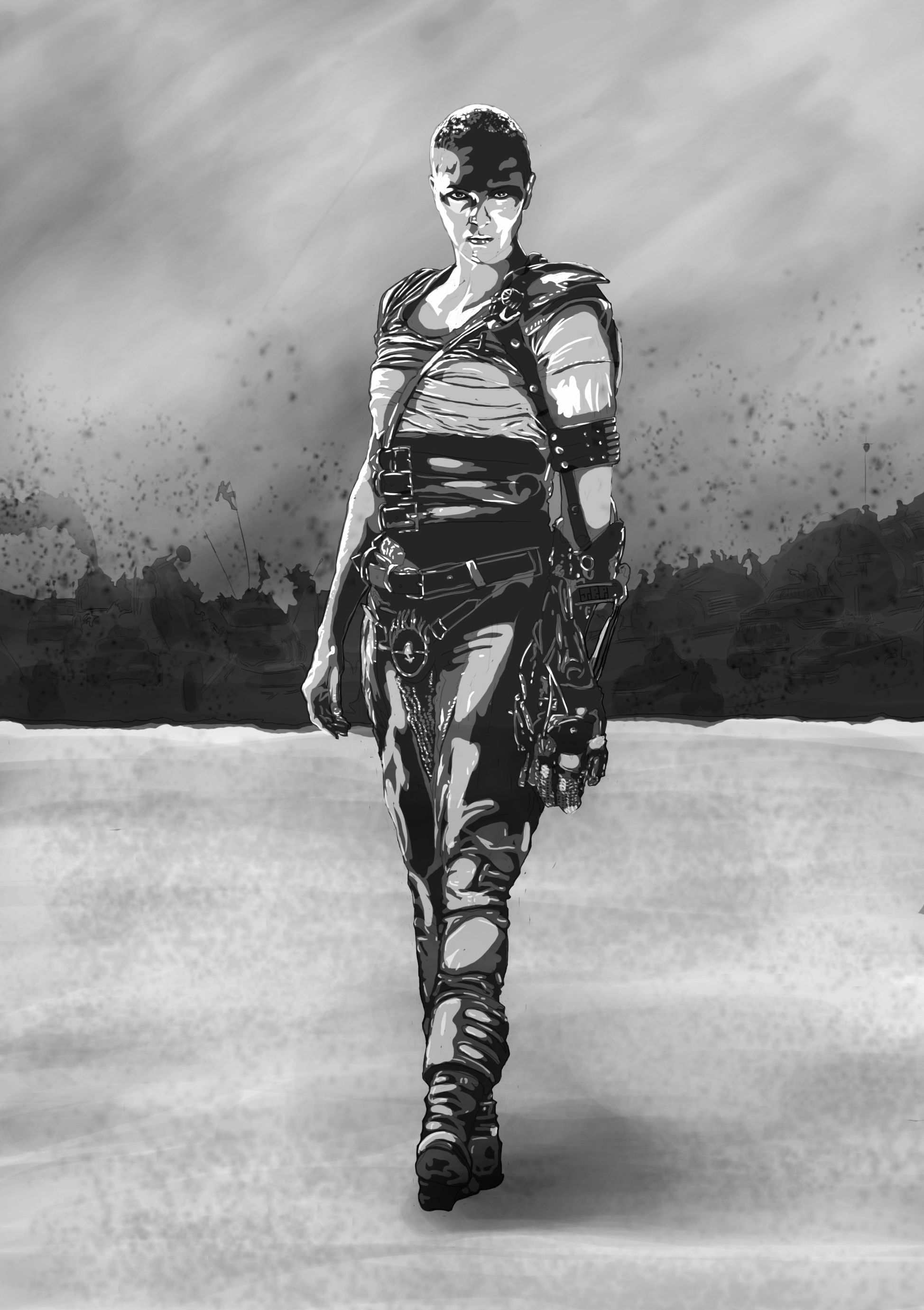 """Furiosa from Mad Max"" 2.5 Hour Sketch - by Jonathan B Perez - cREATive Castle Studios 2"
