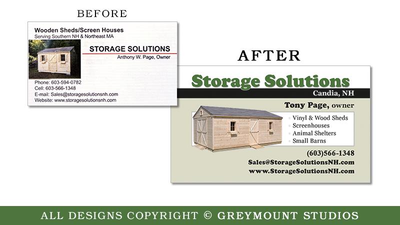 Business card design Feura Bush NY