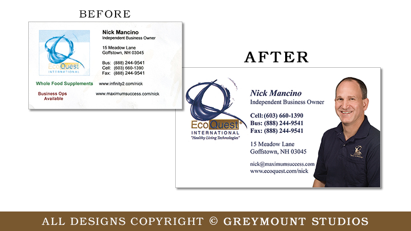 Business card design in Troy, NY