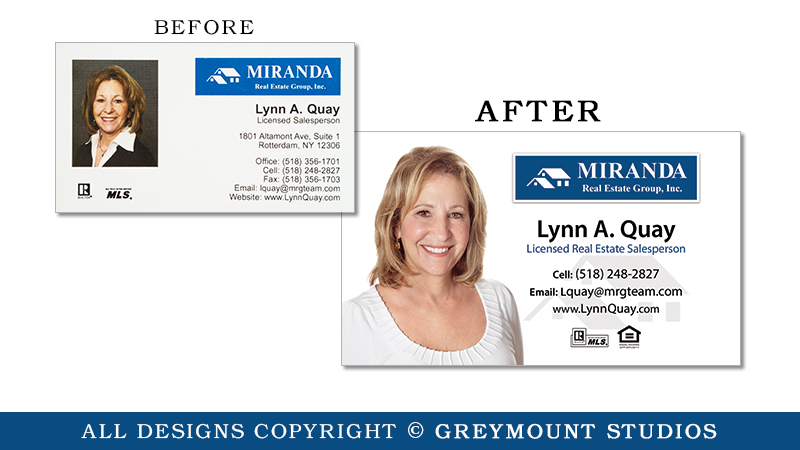 Business card design in Albany, NY