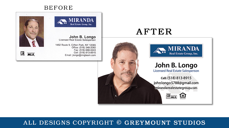 Business card design in Schenectady, NY