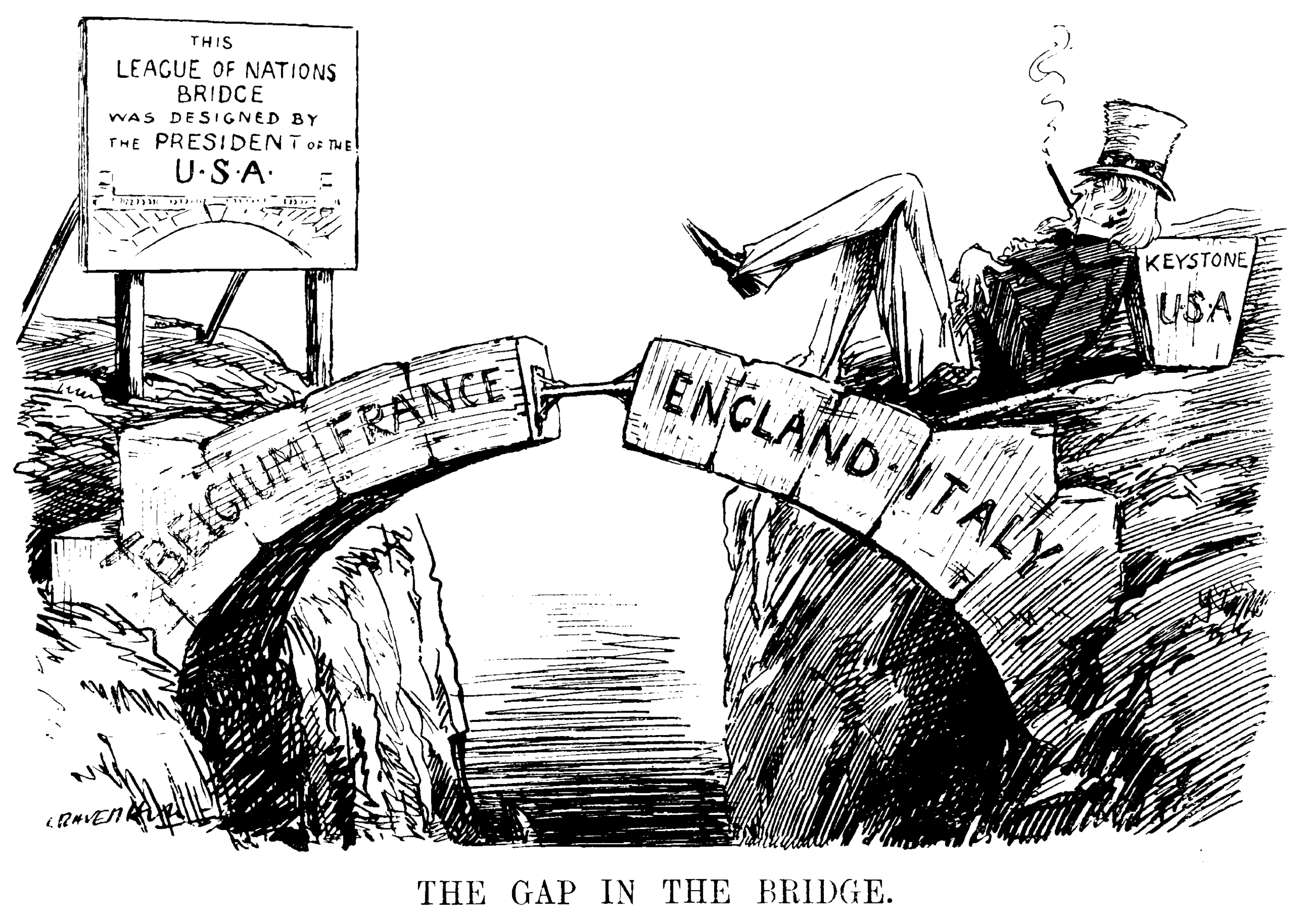 Satirical Cartoon about League of Nations from the 1920s