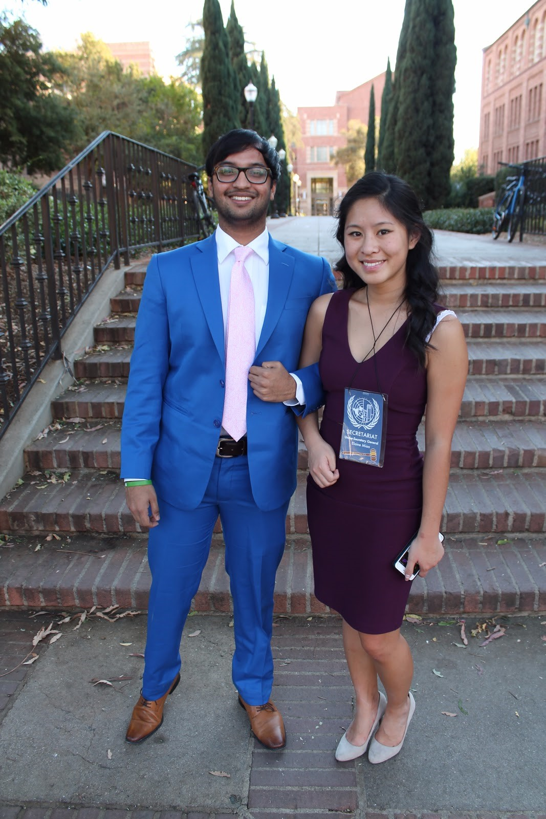The delegates aren't the only ones with stellar fashion sense, our BruinMUN staffers have got it too.