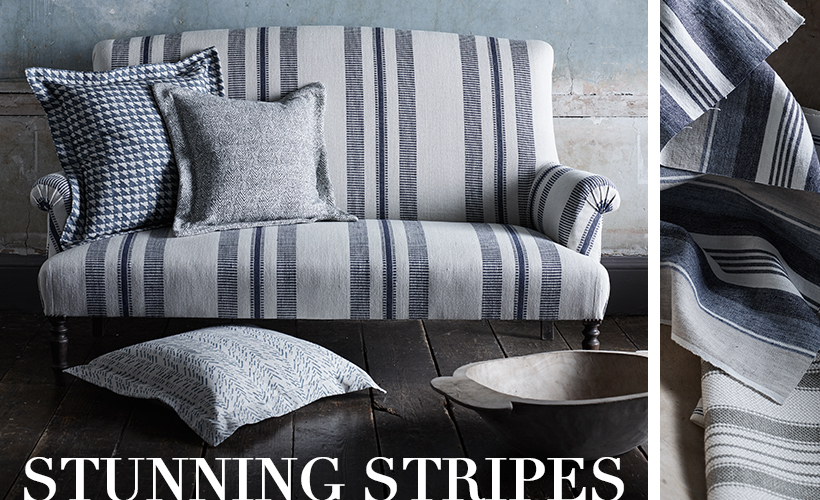 This offering lives up to its name with an exceptionally smart and varied collection of essential and decorative classics. Stylish and relaxed these modern stripes not only make fantastic partners to all Threads designs, but also create a confident statement when used alone
