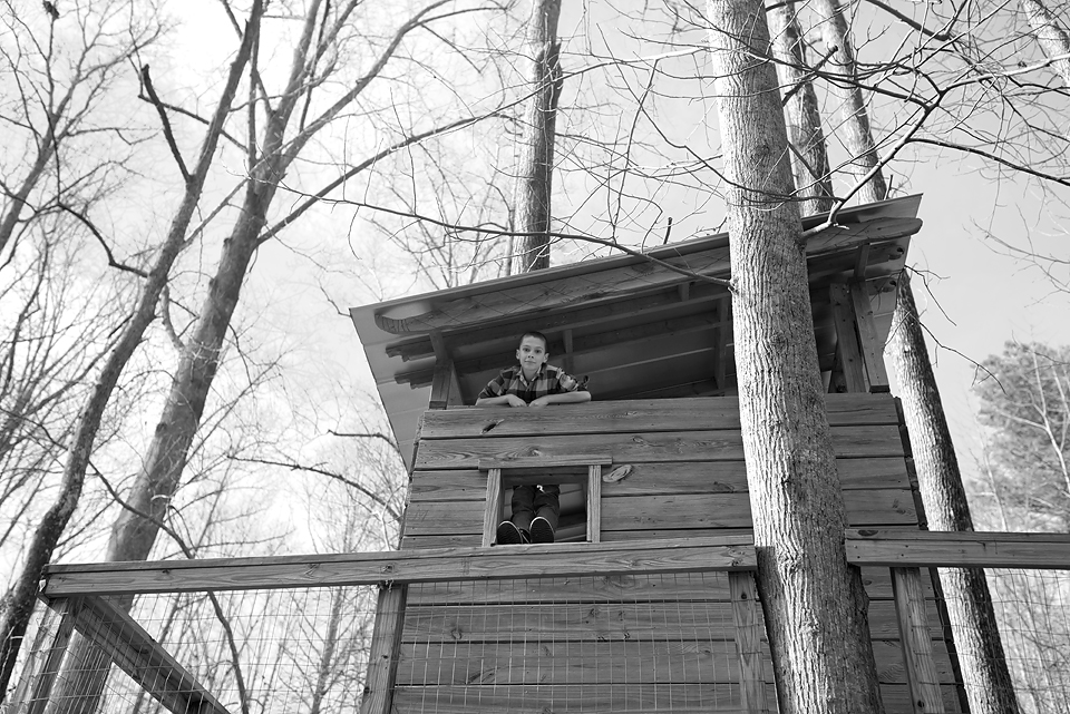 Playhouse in the woods at Serenbe.