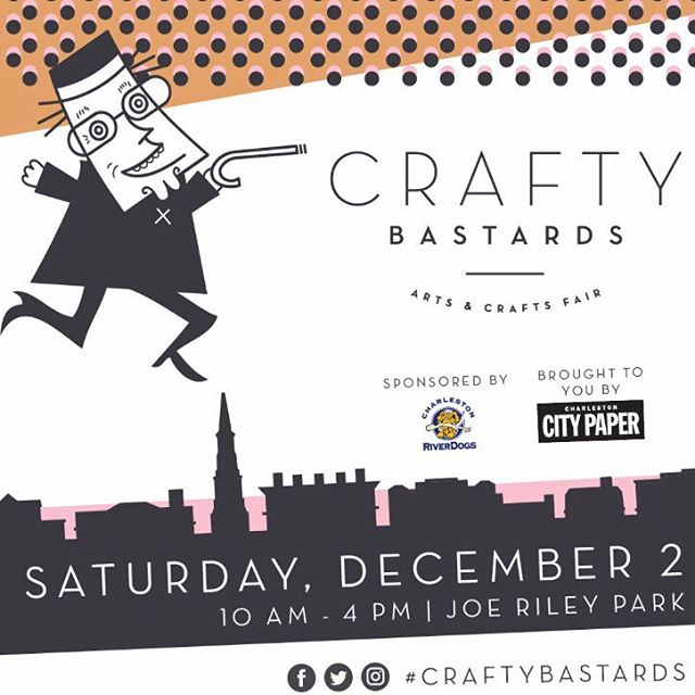 Stop by The Joe tomorrow from 10am-4pm! @craftybastards #shoplocal #handmadejewelry #charleston