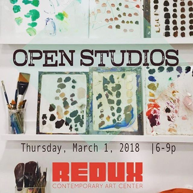 Open Studios tonight at Redux. Pop in from 6-9pm!#reduxcontemporaryartcenter #charleston #openstudios #charlestonart