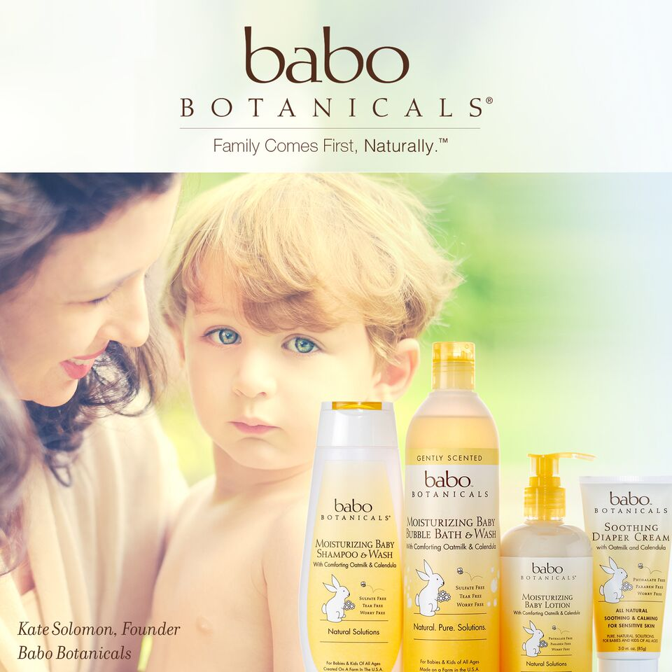 You can win Babo Botanicals' Moisturizing Oatmilk Calendula Collection (sorry -- scrumptious baby not included)!  See below for details.