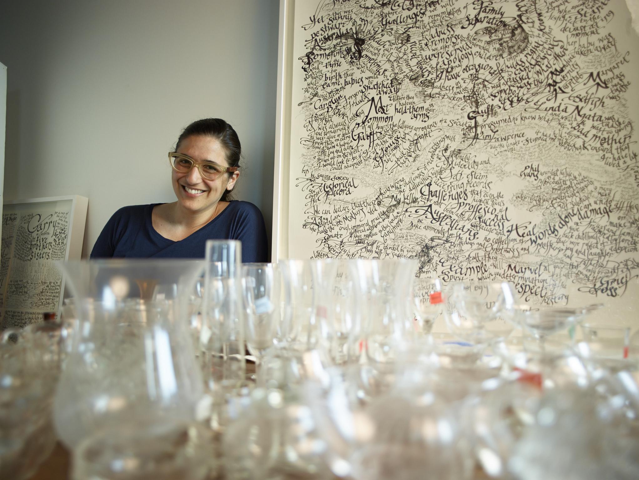 Rachel in her studio. Photo by Naiffer Romero.