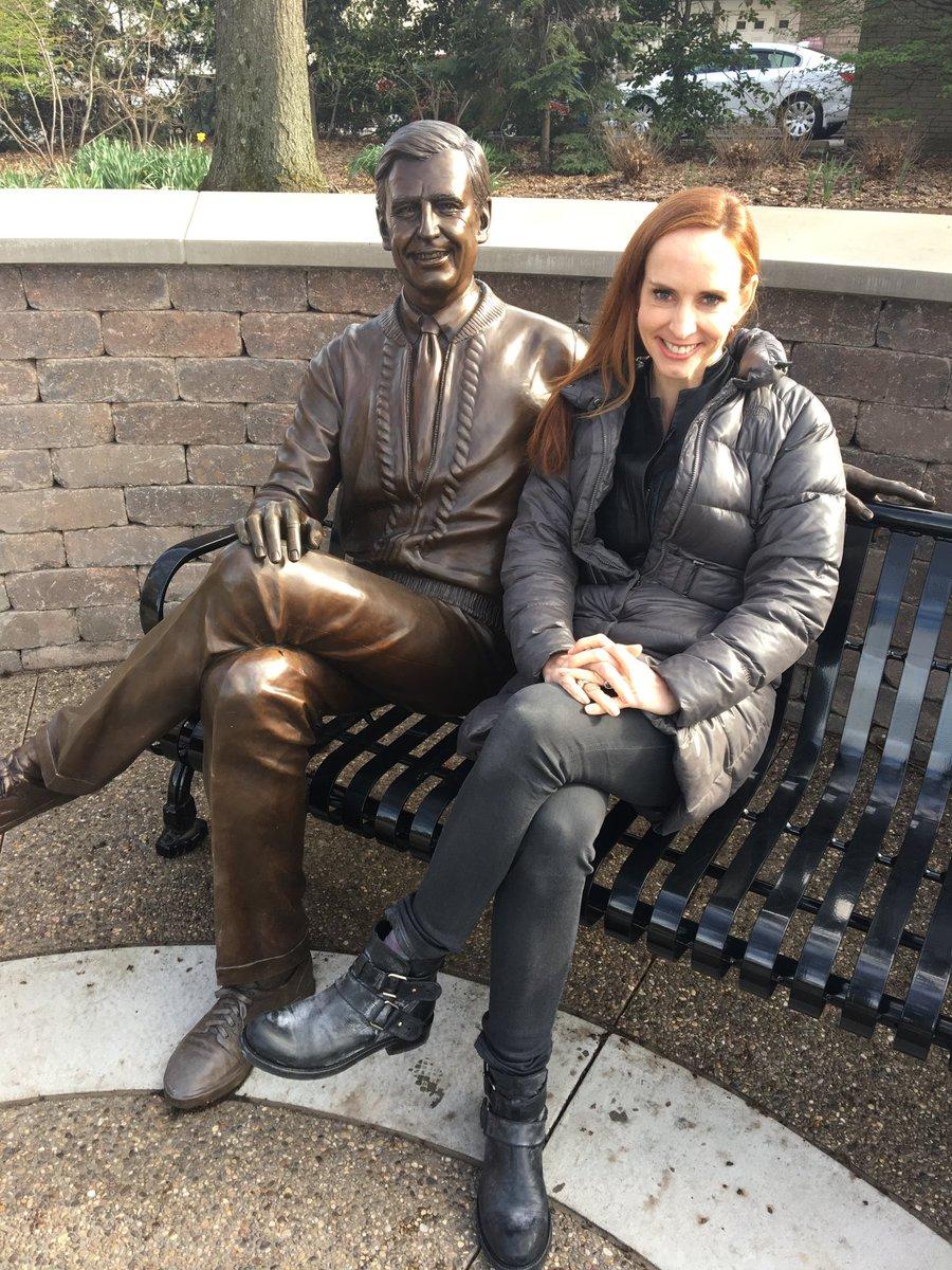 Faith Salie and Mister Rogers