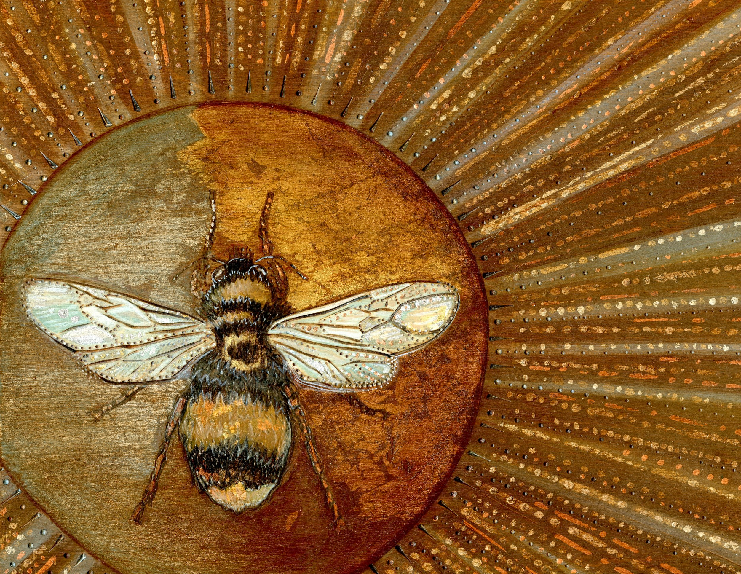 Glorious Bee - Original For Sale & Prints Available in my Etsy Shop