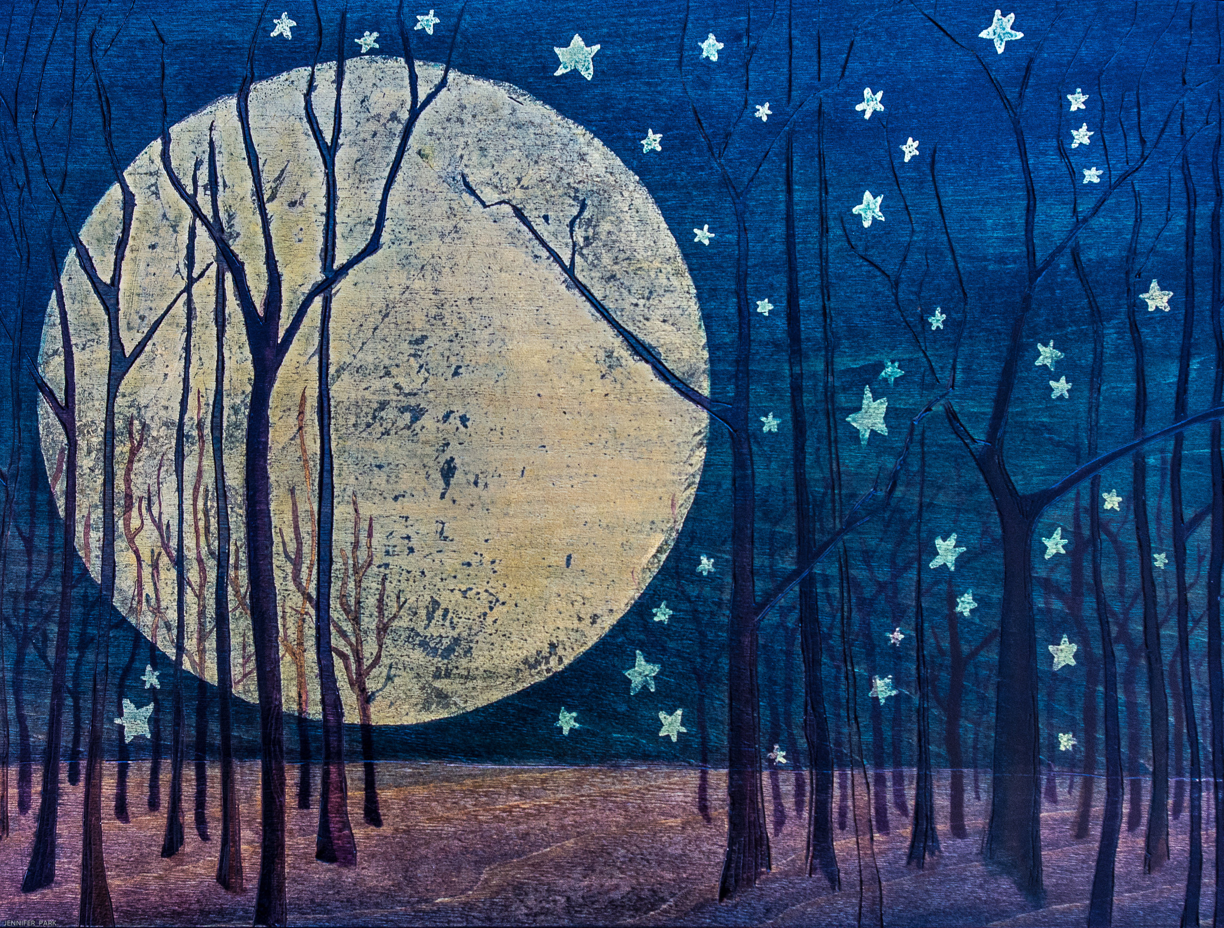 Sold - Night Forest - Prints for Sale