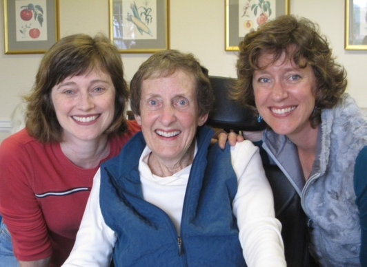 Martha with her daughters, Julie and Laura. October, 2013.
