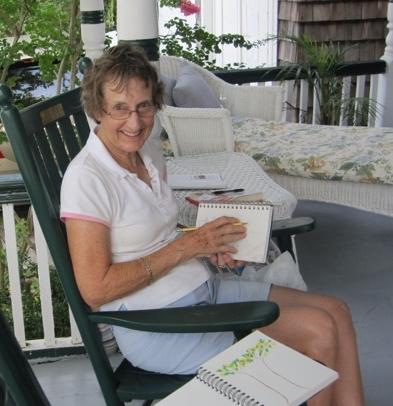 Martha at work. Summer 2012.